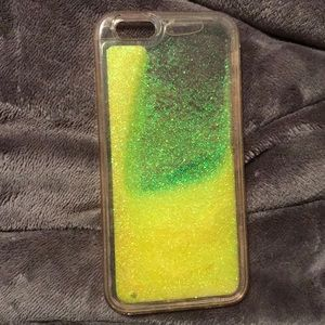 Yellow water glitter IPhone 6 phone case